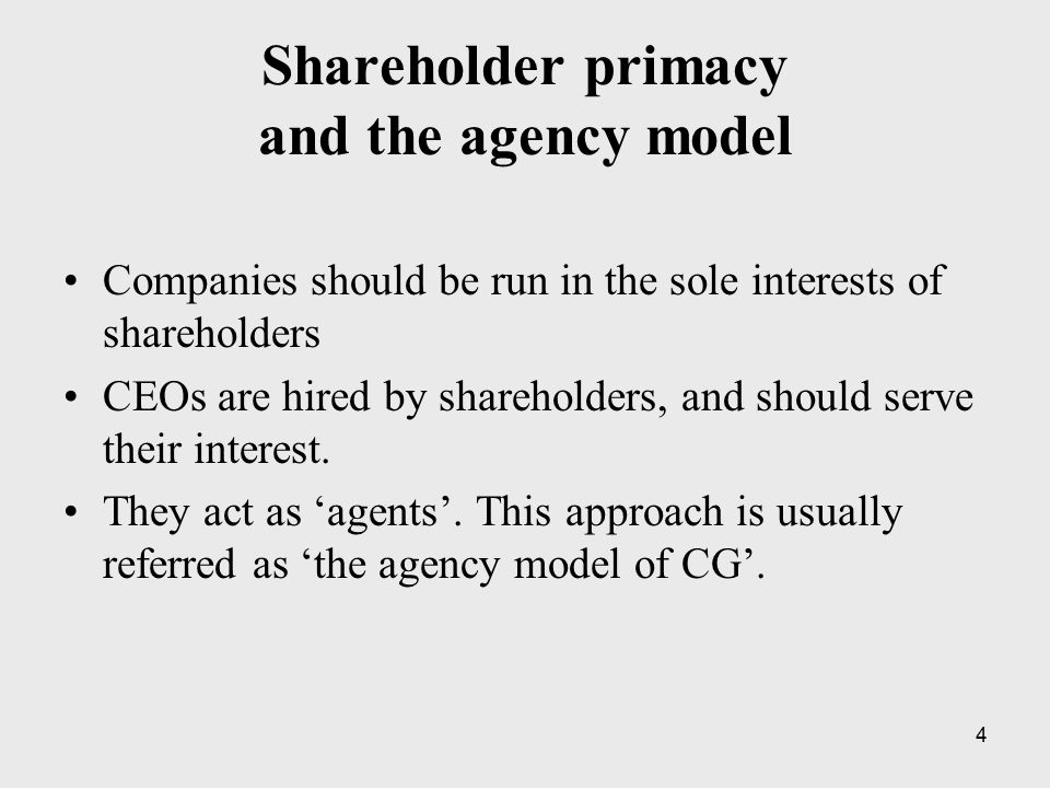 15 Williamson (1984; 2006) The board: –Should serve the interest of shareholders –Should include only shareholder representatives See Romano (1996): « Transaction cost economics offers no analytical support for expanding board representation to non- shareholder groups, and indeed, cautions against such proposals » (p.293).