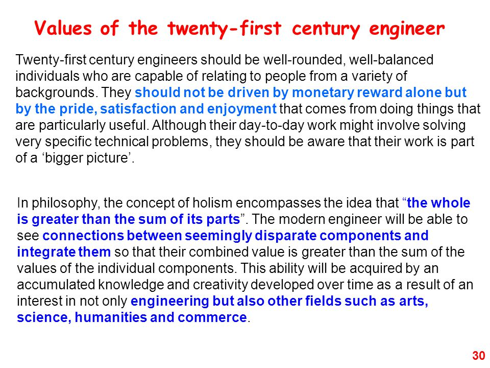 30 In philosophy, the concept of holism encompasses the idea that the whole is greater than the sum of its parts .