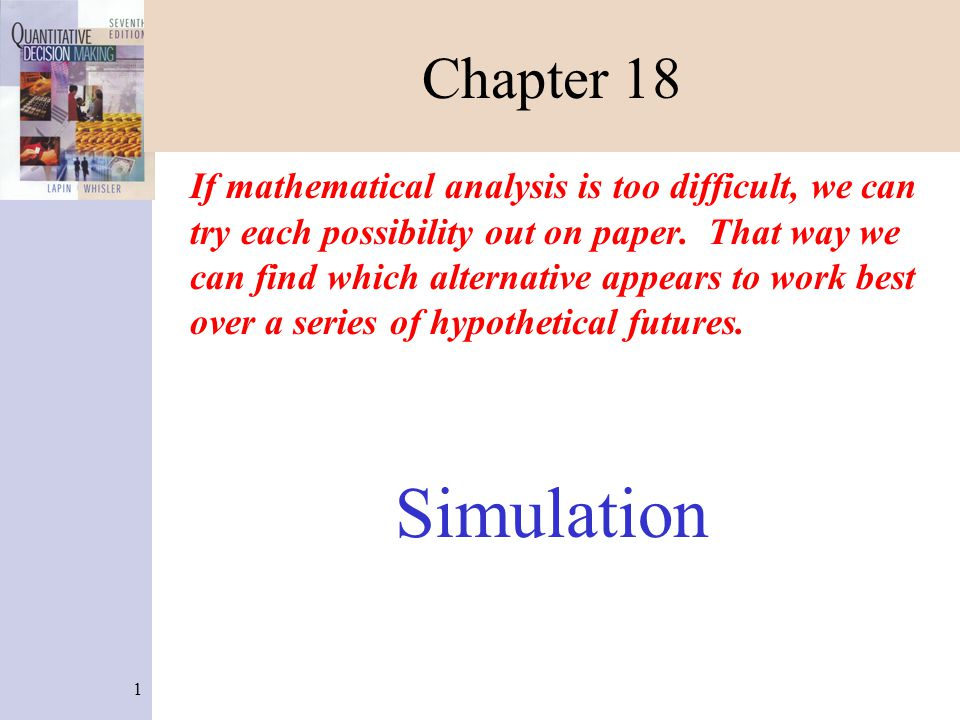 22 Forecasting Simulation (Figure 18-16) 1.Enter the problem name in C3.