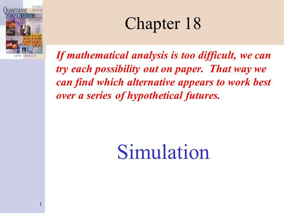 12 Simulation of Sammy Lee's Barbershop (Figure 18-7) 4.