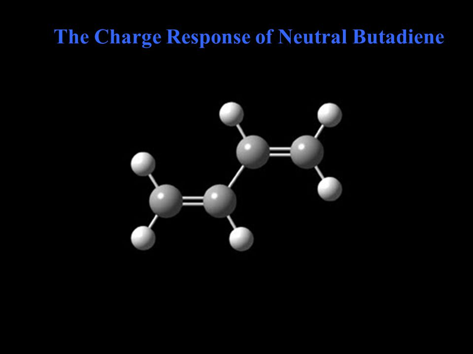 The Charge Response of Neutral Butadiene