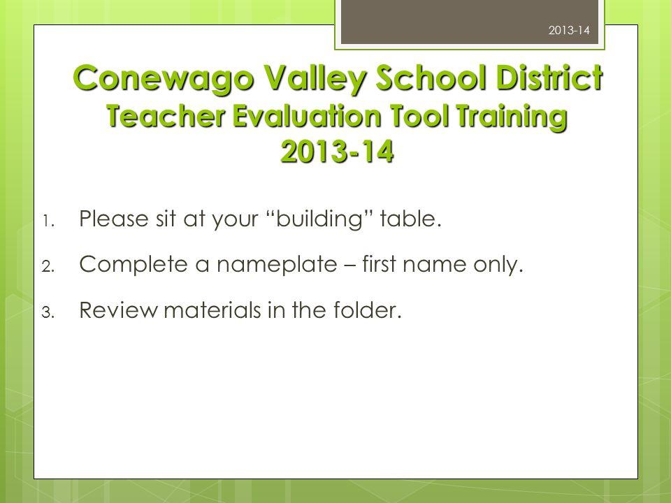 CVSD Teacher Evaluation Tool Training 2013-14