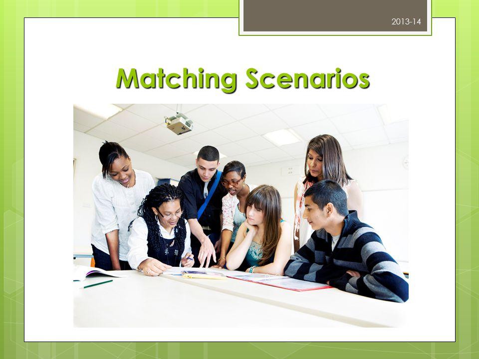 Matching Scenarios 2013-14