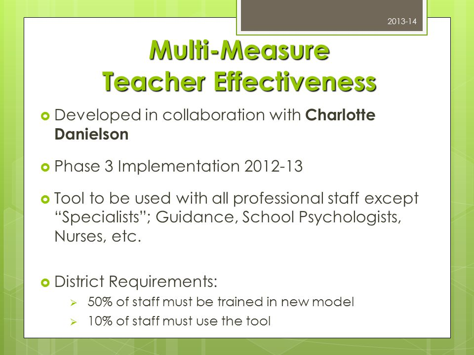 5 Rules for Educator Evaluation/Supervision 1.Defensible definition of teaching 2.
