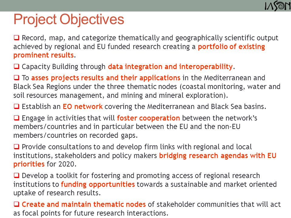  Record, map, and categorize thematically and geographically scientific output achieved by regional and EU funded research creating a portfolio of ex