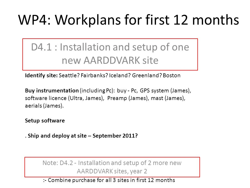 WP4: Workplans for first 12 months D4.3 : Build event database of characteristics of REP Paper plan (First 12 months and ongoing): 1.Rio/VLF response to EEP – Craig lead with U.Alberta 2.EMIC evening precipitation paper – Mark lead on 15Oct'10 event.