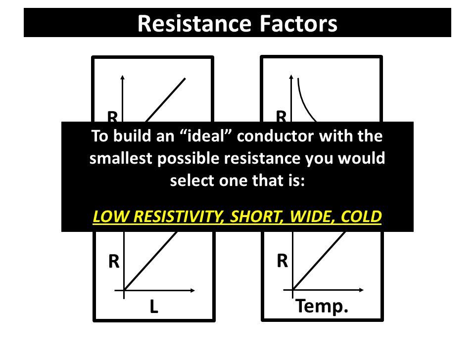 R A Resistance Factors R ρ R L R Temp.