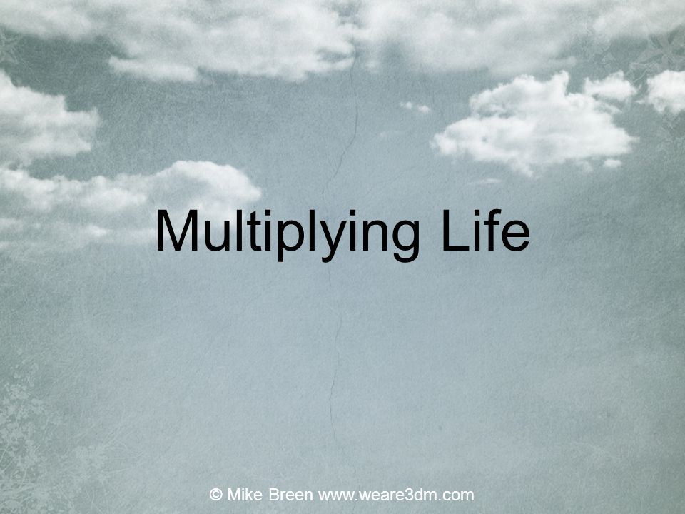 Multiplying Life © Mike Breen www.weare3dm.com