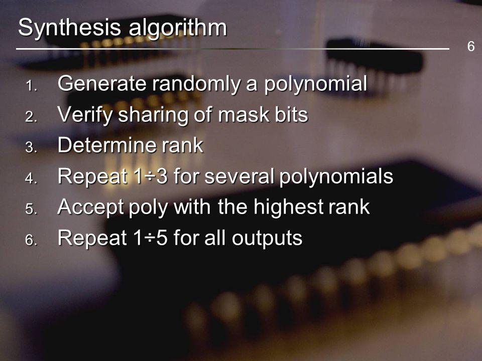 17 experimental results – filling chains D1D2D3D4 WTM [%] LoadUnload Capture Constant Shadow register Combined WSA [%]