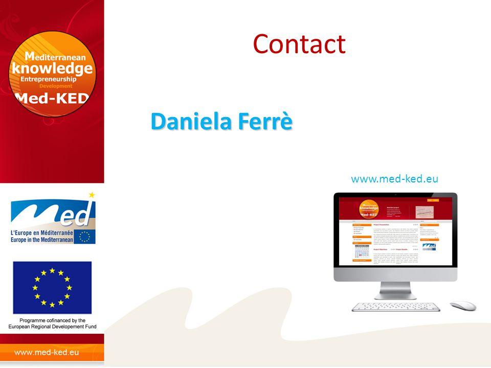 Contact www.med-ked.eu Daniela Ferrè