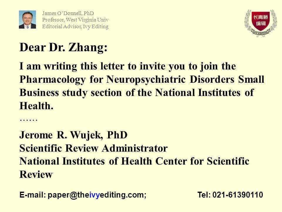 Dear Dr.