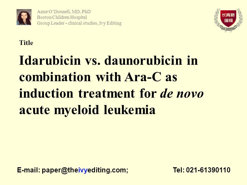 Title Idarubicin vs.