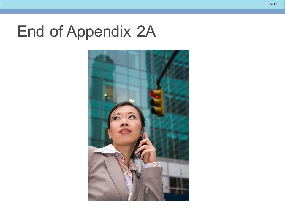 2A-15 End of Appendix 2A