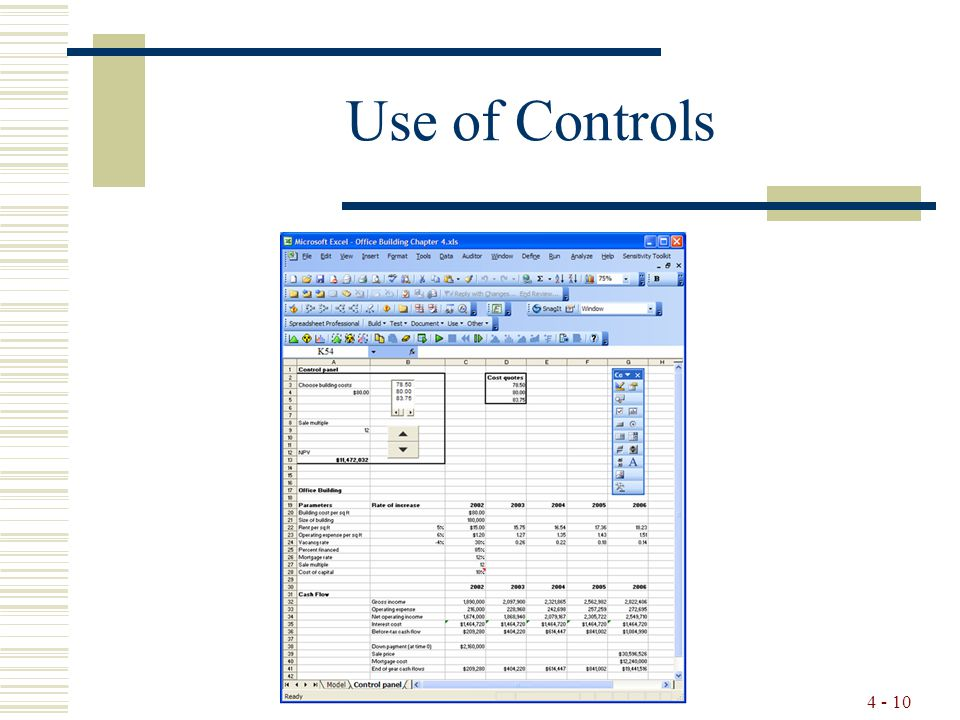 4 - 10 Use of Controls