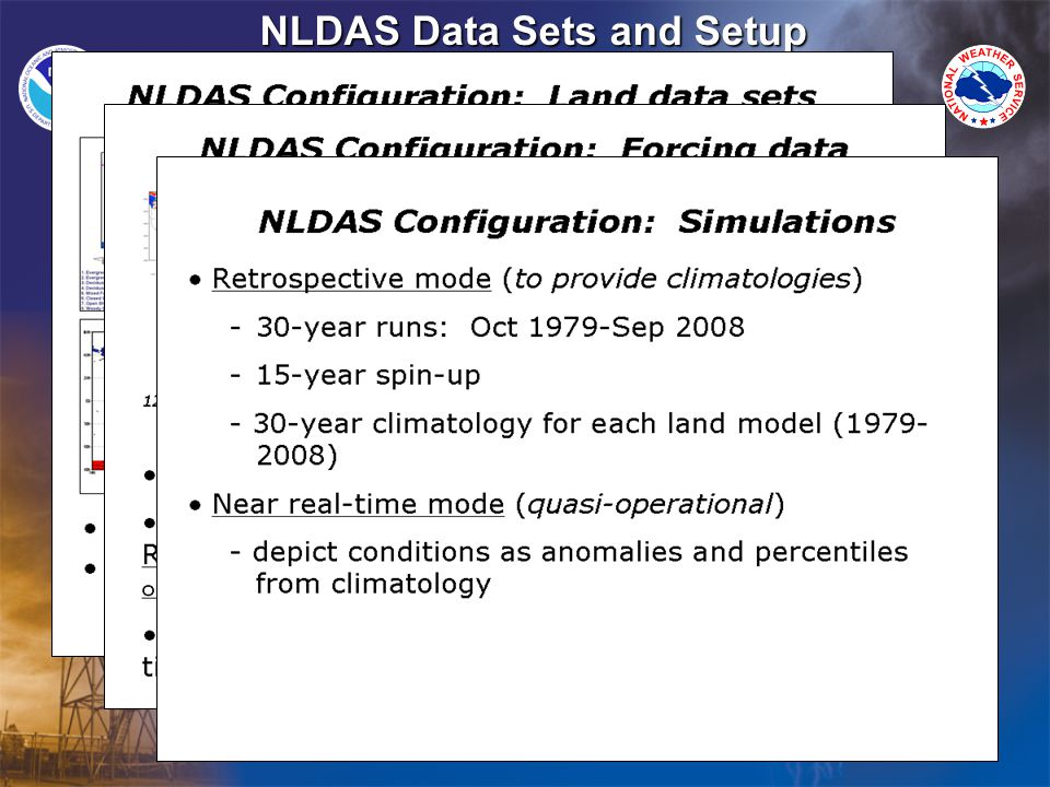 NLDAS Data Sets and Setup