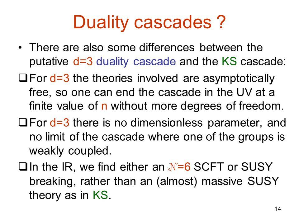14 Duality cascades .