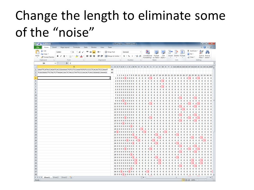 Change the length to eliminate some of the noise