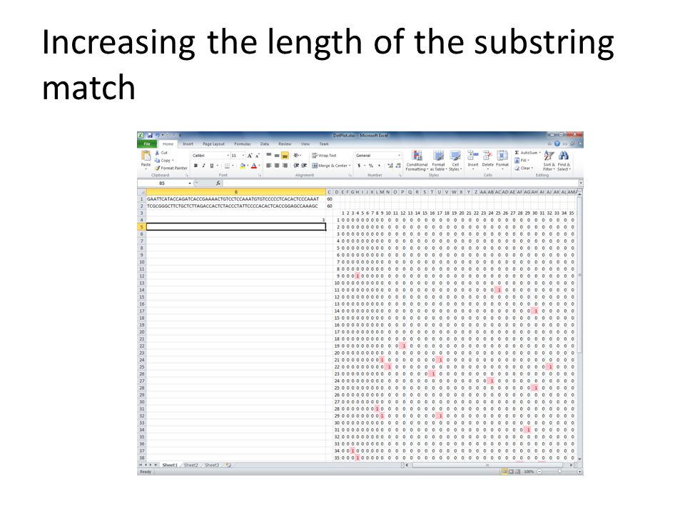 Increasing the length of the substring match