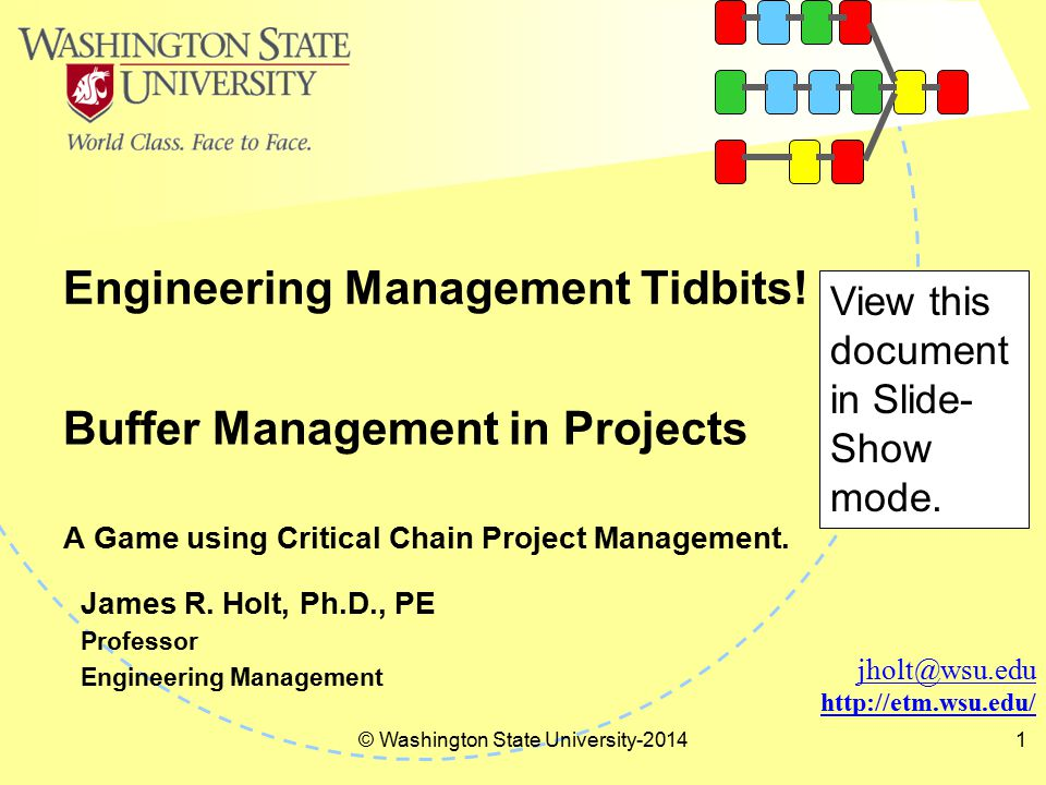 Engineering Management Tidbits.
