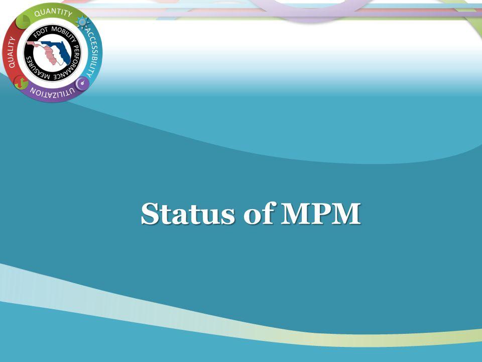 Status of MPM Status of MPM