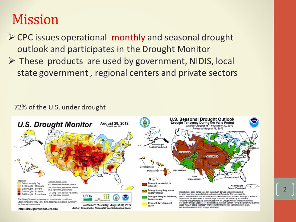 Base area 23 1.Select drought centers: PNW, SW and return of drought in 2003 2.