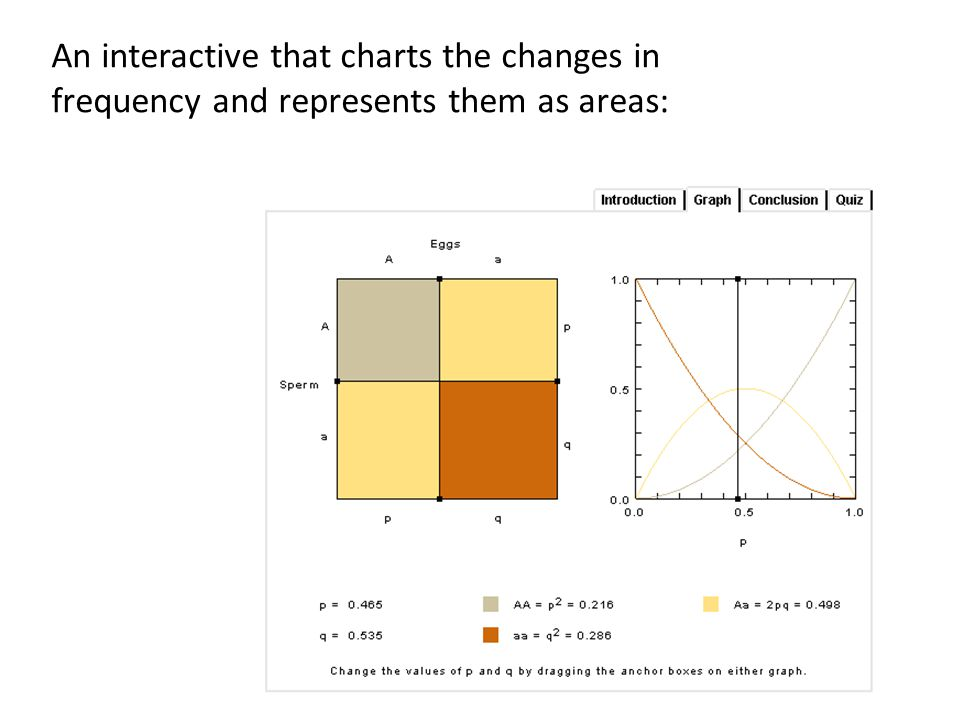 An interactive that charts the changes in frequency and represents them as areas: