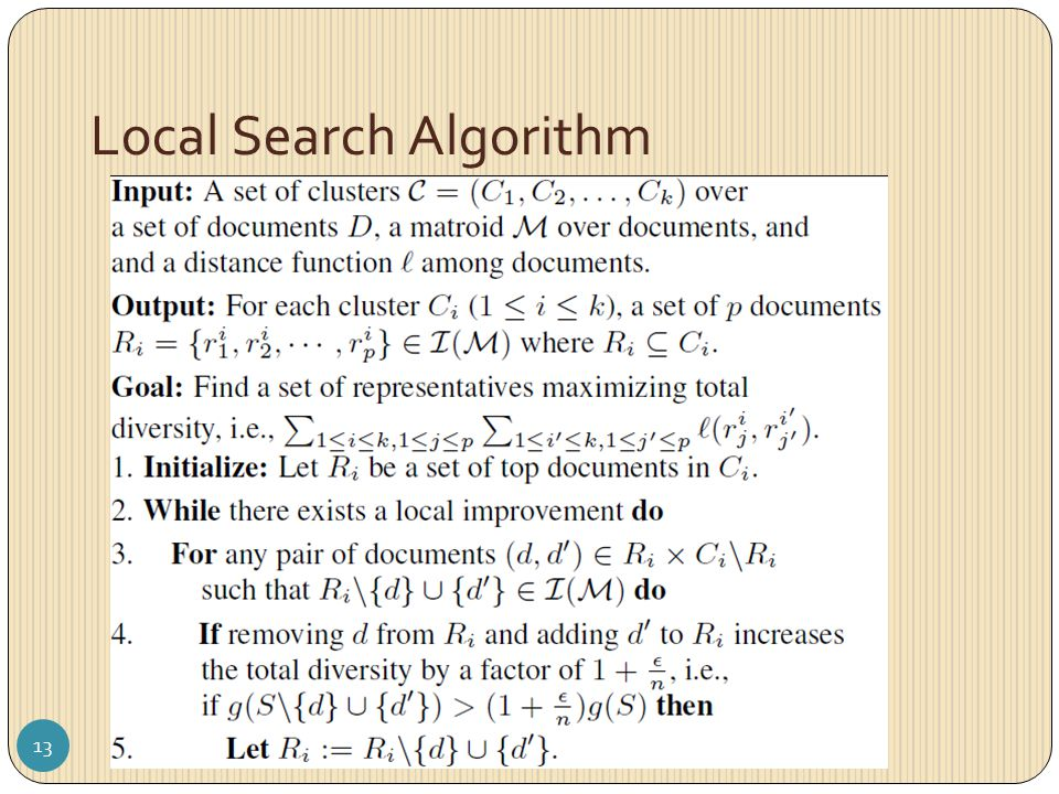 Local Search Algorithm 13