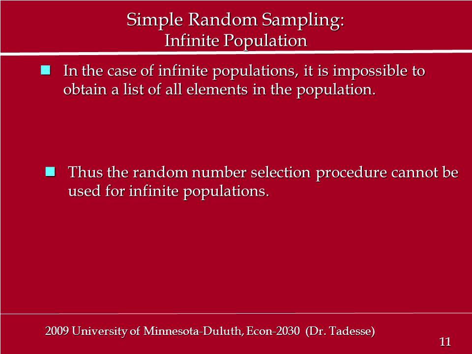 11 2009 University of Minnesota-Duluth, Econ-2030 (Dr.