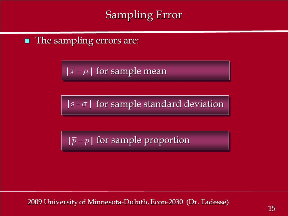 15 2009 University of Minnesota-Duluth, Econ-2030 (Dr.