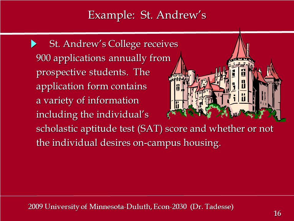 16 2009 University of Minnesota-Duluth, Econ-2030 (Dr.
