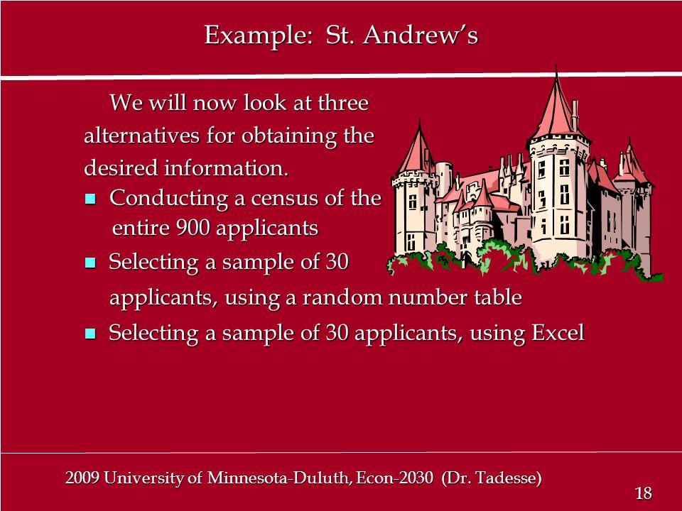 18 2009 University of Minnesota-Duluth, Econ-2030 (Dr.