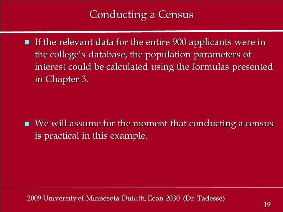 19 2009 University of Minnesota-Duluth, Econ-2030 (Dr.