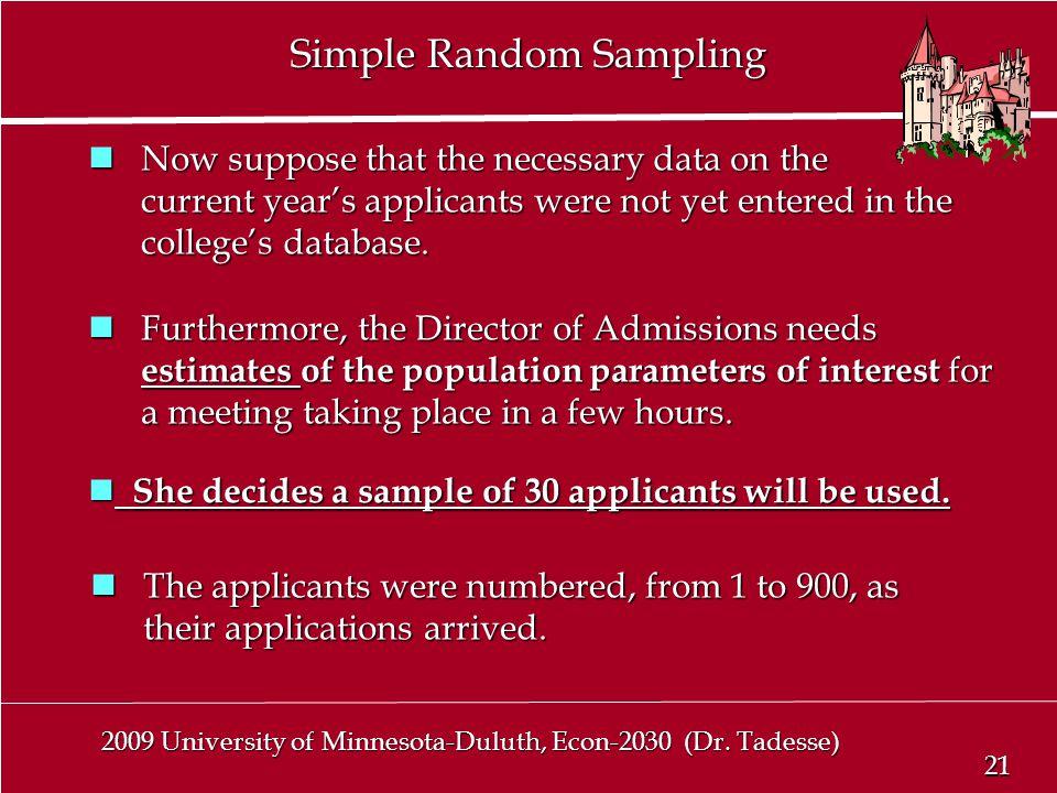 21 2009 University of Minnesota-Duluth, Econ-2030 (Dr.