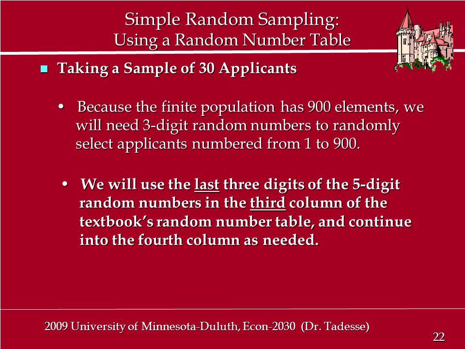 22 2009 University of Minnesota-Duluth, Econ-2030 (Dr.