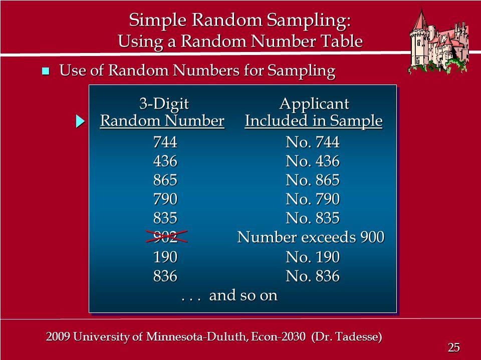 25 2009 University of Minnesota-Duluth, Econ-2030 (Dr.