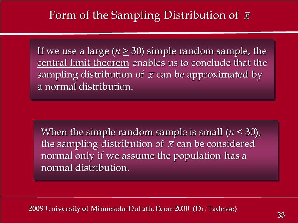 33 2009 University of Minnesota-Duluth, Econ-2030 (Dr.