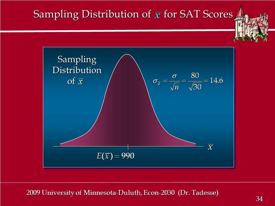 34 2009 University of Minnesota-Duluth, Econ-2030 (Dr.
