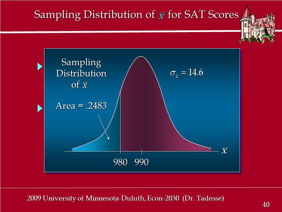 40 2009 University of Minnesota-Duluth, Econ-2030 (Dr.