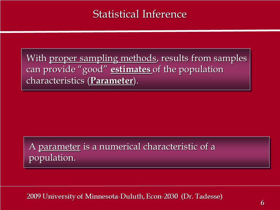6 6 2009 University of Minnesota-Duluth, Econ-2030 (Dr.
