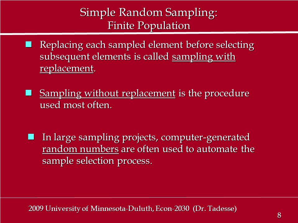 8 8 2009 University of Minnesota-Duluth, Econ-2030 (Dr.
