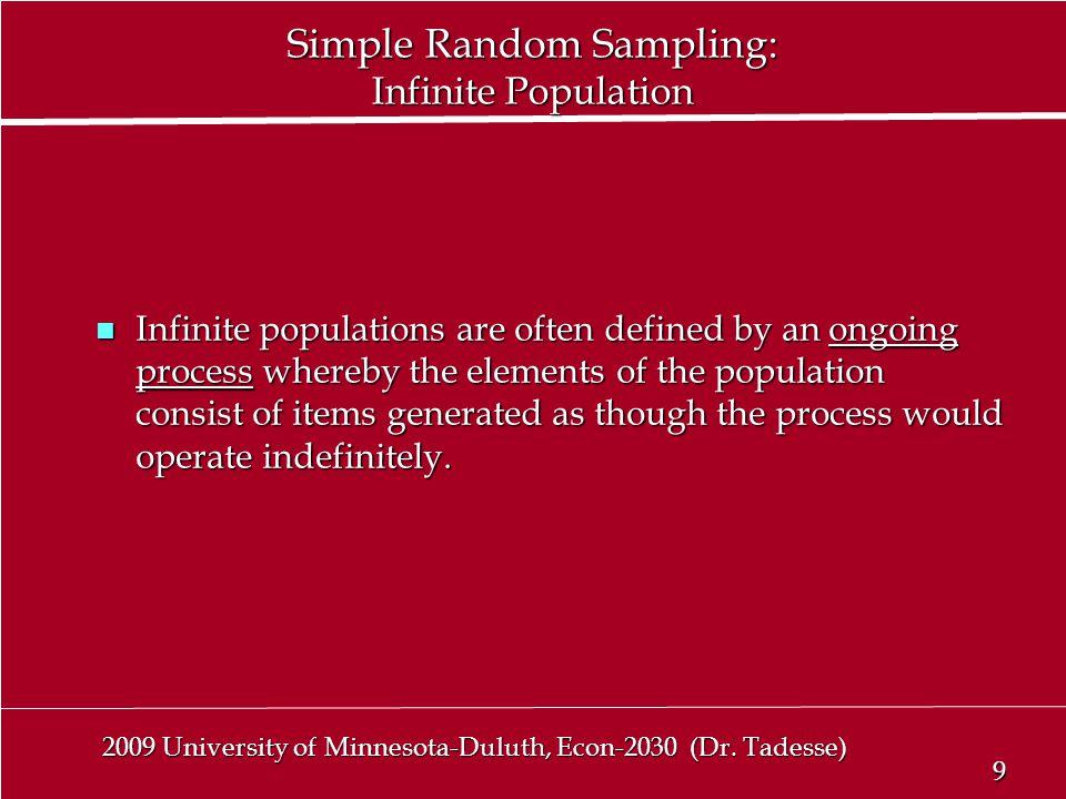 9 9 2009 University of Minnesota-Duluth, Econ-2030 (Dr.