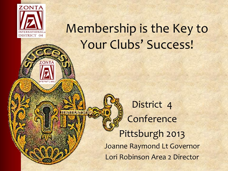 Membership is the Key to Your Clubs' Success.