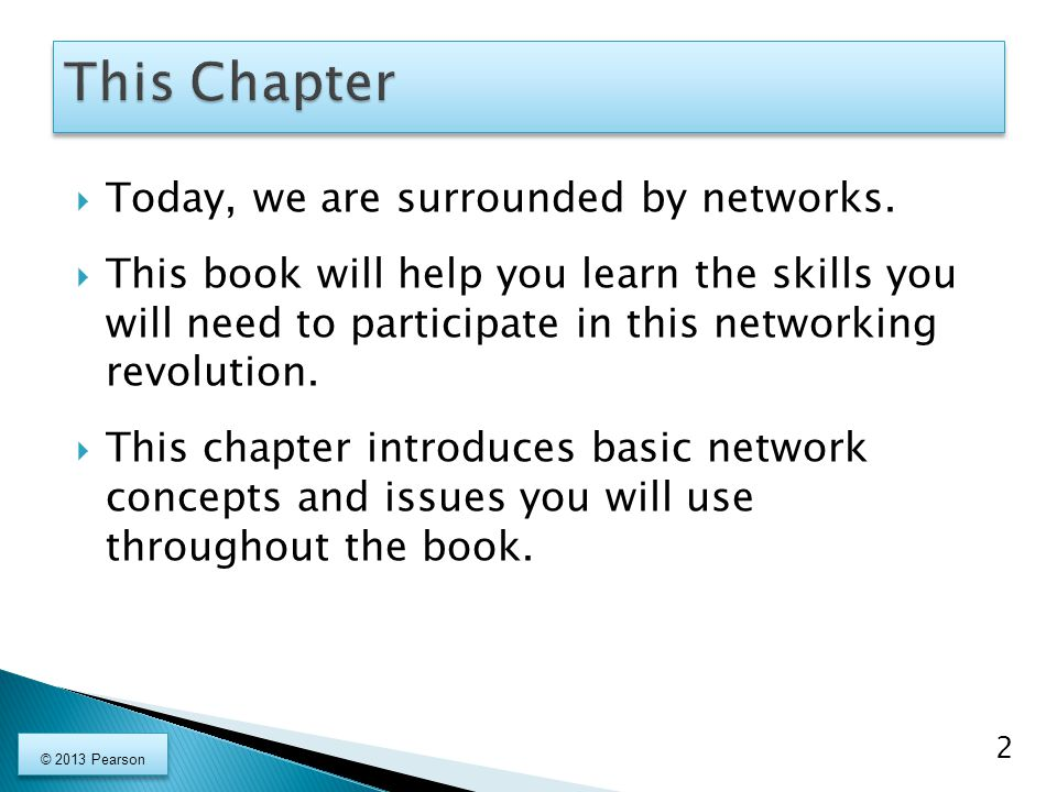  Today, we are surrounded by networks.  This book will help you learn the skills you will need to participate in this networking revolution.  This