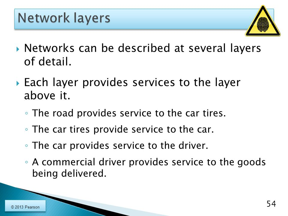  Networks can be described at several layers of detail.
