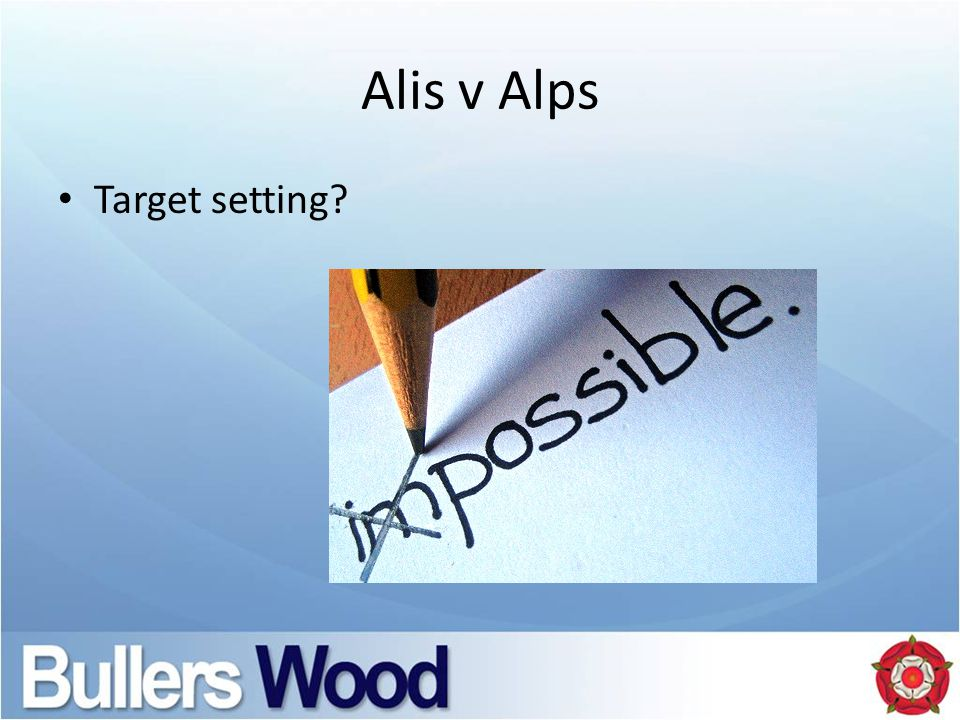 Alis v Alps Target setting