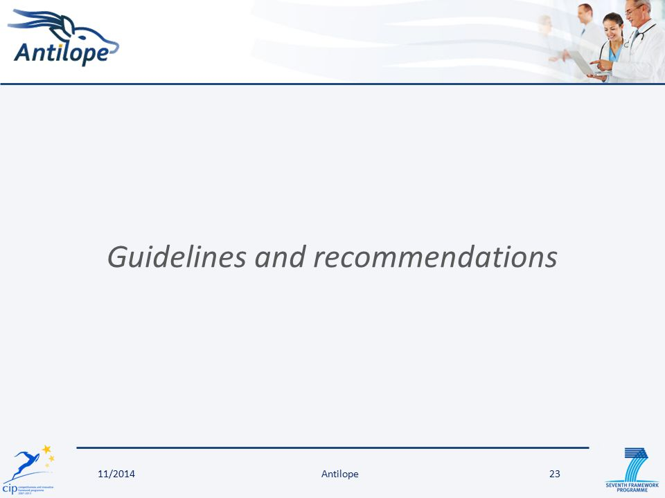 Guidelines and recommendations 23Antilope11/2014