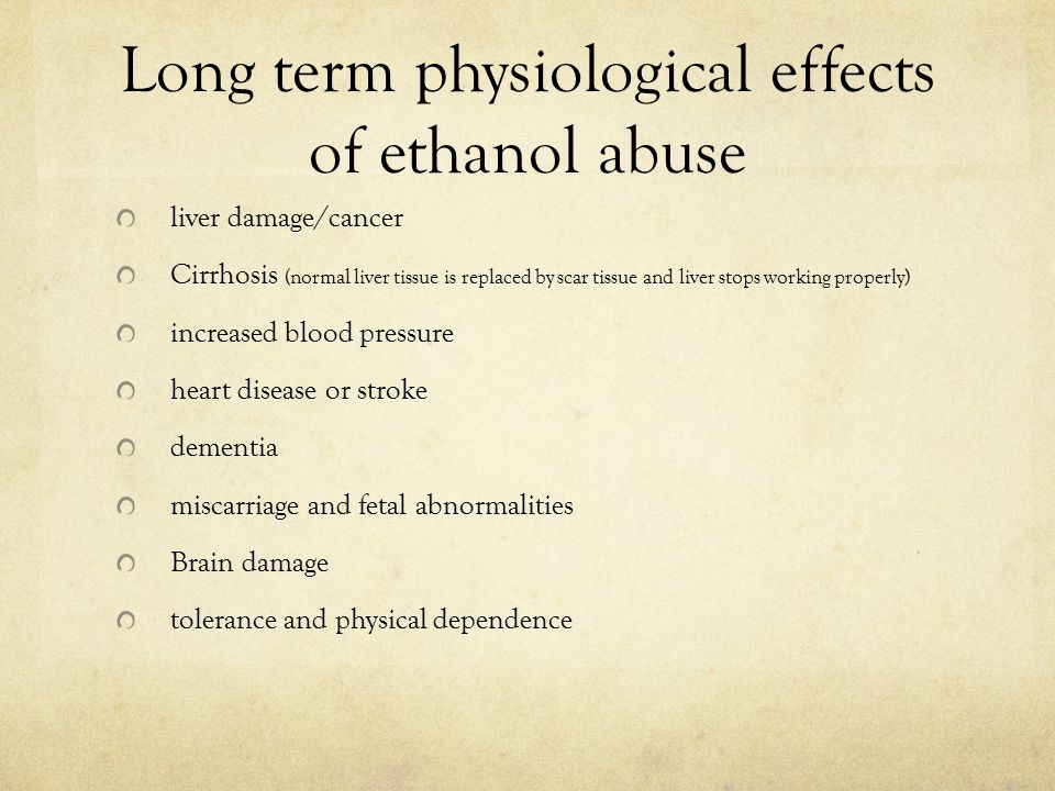 Social effect of ethanol use/abuse increased risk when driving or operating machinery involvement in violence or crime relationship problems taking time off work as a result of sickness or death associated with alcohol abuse loss of income hospital costs