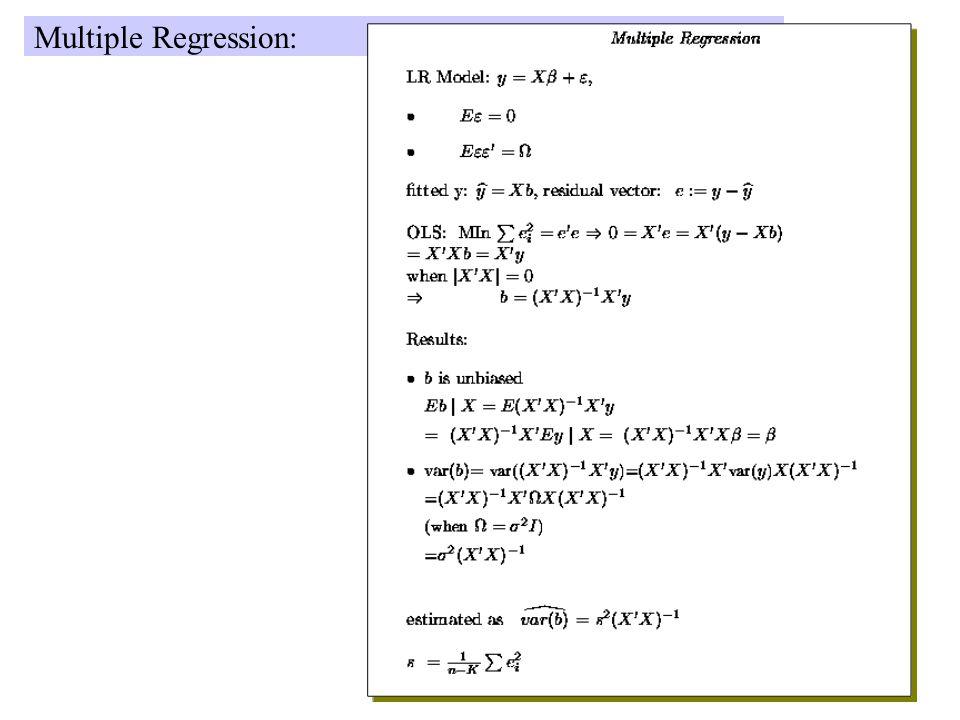 Multiple Regression: