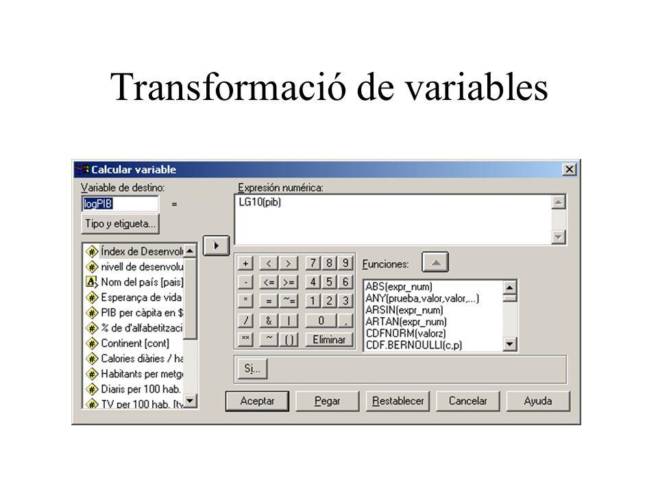 Transformació de variables