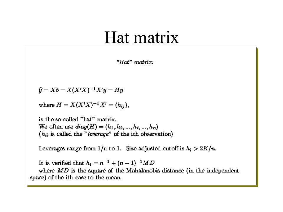 Hat matrix